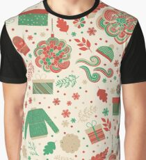 Christmas Pattern Graphic T-Shirt