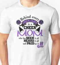 Behind Every Cheerleader Is A Cheer Mom Unisex T-Shirt