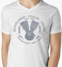 Harley Davidson Shovelhead Power 1966 - 1984 T-Shirt mit V-Ausschnitt