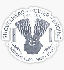 Harley Davidson Shovelhead Power 1966 - 1984 Glänzender Sticker