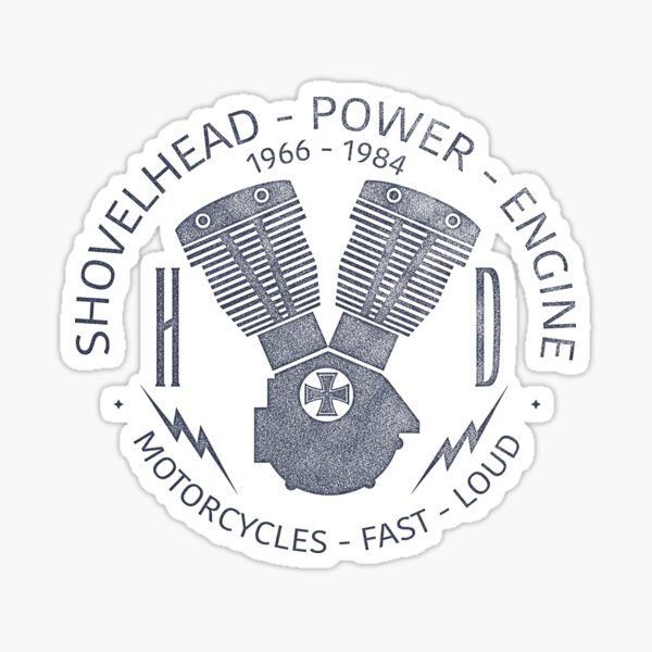 Harley Davidson Shovelhead Power 1966 - 1984 Glossy Sticker