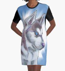 Siberian Huskies dog design Graphic T-Shirt Dress