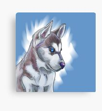 Siberian Huskies dog design Canvas Print