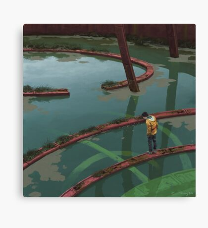 Vattenfyllt Bågrum Canvas Print
