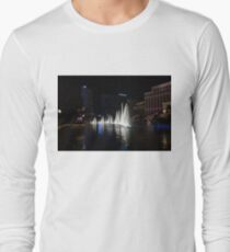 The Midnight Show - Bellagio and Cosmopolitan Plus the Famous Fountains Long Sleeve T-Shirt