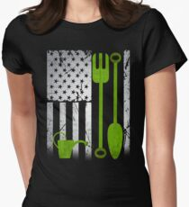 Gardening USA merican flag independence day 4th of july   Women's Fitted T-Shirt
