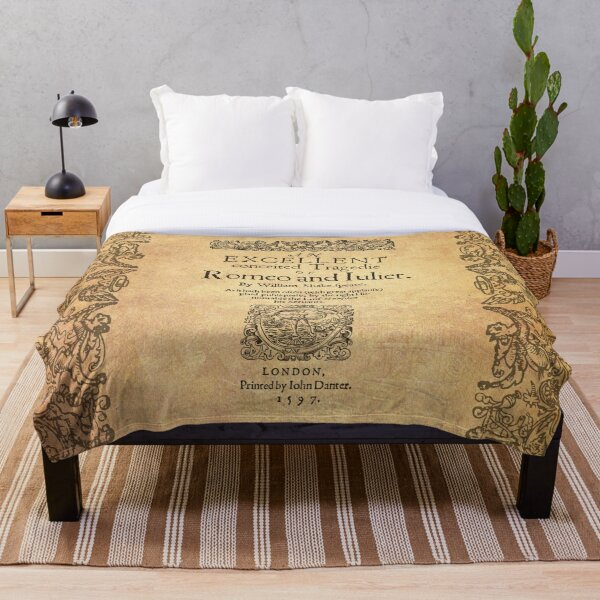 Shakespeare, Romeo and Juliet 1597 Throw Blanket