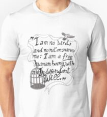 I am no bird // Jane Eyre Unisex T-Shirt