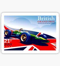 BRITISH GRAND PRIX; Vintage Auto Advertising Print Sticker