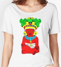 Sitting Indian Women's Relaxed Fit T-Shirt