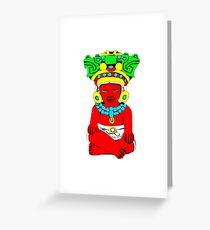 Sitting Indian Greeting Card