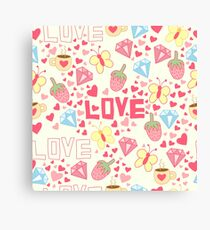 Funny love. Canvas Print