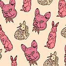 Animal Pattern & French Bulldog by Isaac Spellman