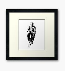 Albert Einstein on a Bike Framed Print