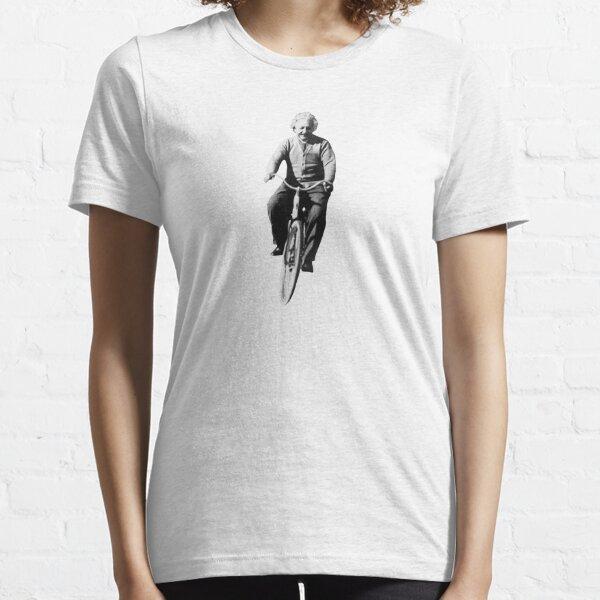 Albert Einstein auf dem Fahrrad Essential T-Shirt