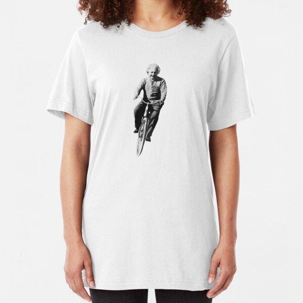 Albert Einstein on a Bike Slim Fit T-Shirt