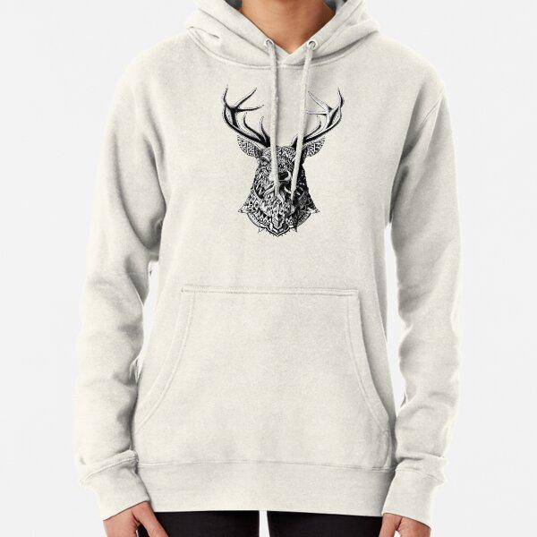 Ornate Buck Pullover Hoodie