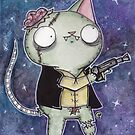 Zombie Han Solo Cat by jrock1184
