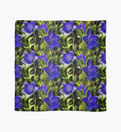Blue Flowers Nature Art Design Scarf
