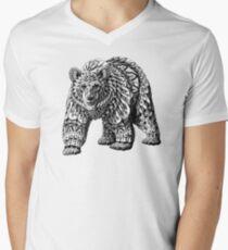 Ornate Bear Men's V-Neck T-Shirt