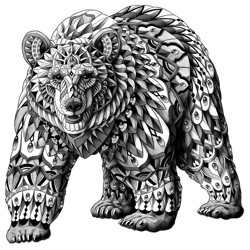 Quot Ornate Bear Quot By Bioworkz Redbubble