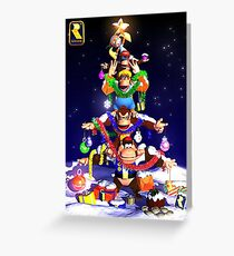 Donkey Kong Christmas Greeting Card