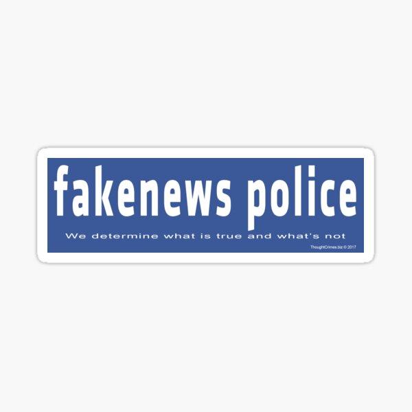 Fake News Police Sticker