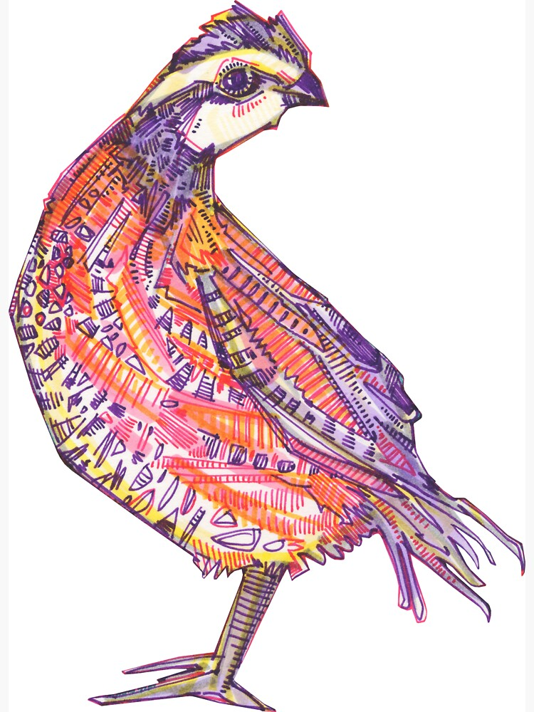 Quail Drawing - 2016 by gwennpaints