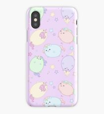 Chubby Pastel Unicorns (In Space) iPhone Case/Skin