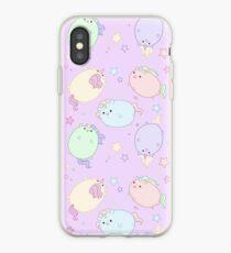 Chubby Pastell Einhörner (im Raum) iPhone-Hülle & Cover