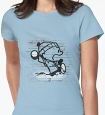 Snowball thrower Womens Fitted T-Shirt