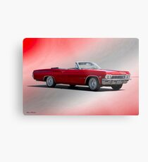 1965 Chevrolet 396 Impala Convertible Metal Print