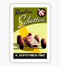 RUND UM SCHOTTEN; Vintage Auto Racing Print Sticker