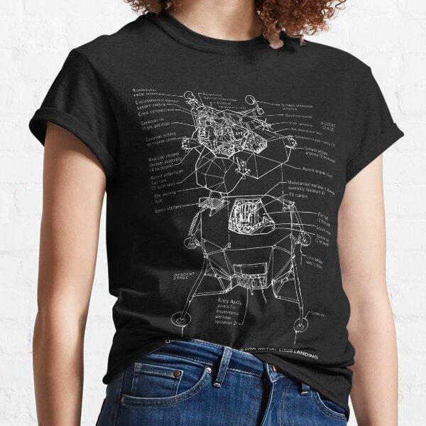 Lunar Module Schematic Classic T-Shirt
