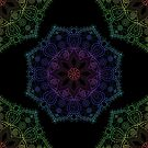 Rainbow Mandala 1 by LCWaterworth