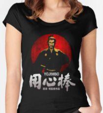YOJIMBO SANJURO AKIRA KUROSAWA CLASSIC SAMURAI JAPANESE MOVIE  Women's Fitted Scoop T-Shirt