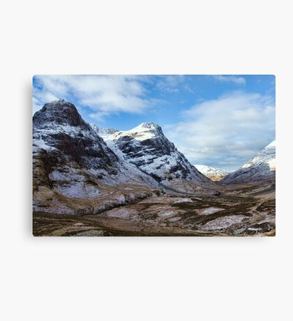 Winter Mountains of Glencoe Canvas Print