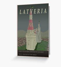 Visit Latveria Greeting Card