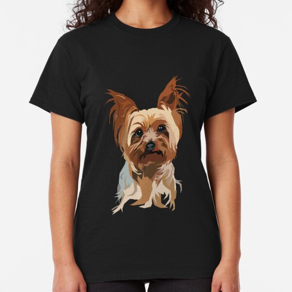Puppies Rule Yorkshire Terrier Yorkie Dog Graphic Art Series Ladies T Shirt