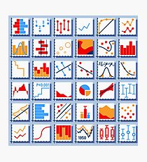 Stats Element Set in Various Colors Photographic Print
