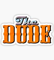 The DUDE colour print - The Big Lewbowski Sticker