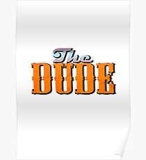 The DUDE colour print - The Big Lewbowski Poster