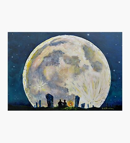 Avebury Moonrise Photographic Print