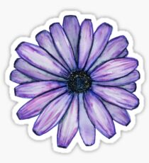 Watercolor Purple Daisy Flower Sticker