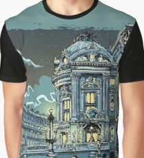 Opéra de Paris at Night Graphic T-Shirt