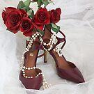 Bright shoes for stylish bride by Maryna Gumenyuk