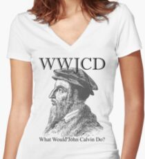 WWJCD Women's Fitted V-Neck T-Shirt