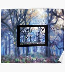 The Enchanted Forest Landscape with Single border Poster