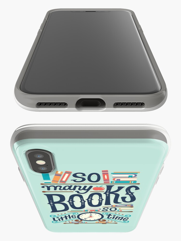Alternate view of So many books so little time iPhone Case & Cover