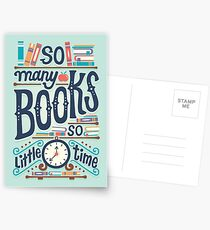 So many books so little time Postcards